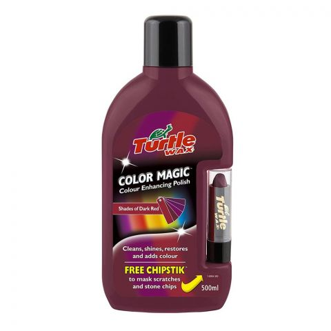 Turtle Wax Color Magic Color Enhancer Polish, Shades of Dark Red, 500ml, FG6904