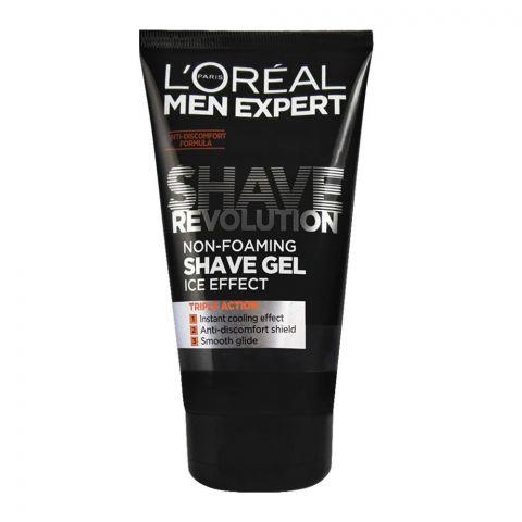L'Oreal Paris Men Expert Shave Revolution Non-Foaming Shaving Gel, Ice Effect, 150ml