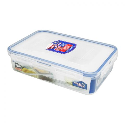 Lock & Lock Rectangular Short Food Storage Container, With Divider, 800ml LLHPL816C