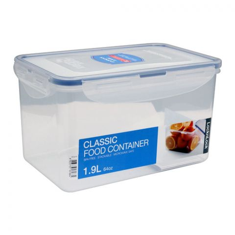 Lock & Lock Air Tight Rectangular Tall Food Container, 1.9L, LLHPL818