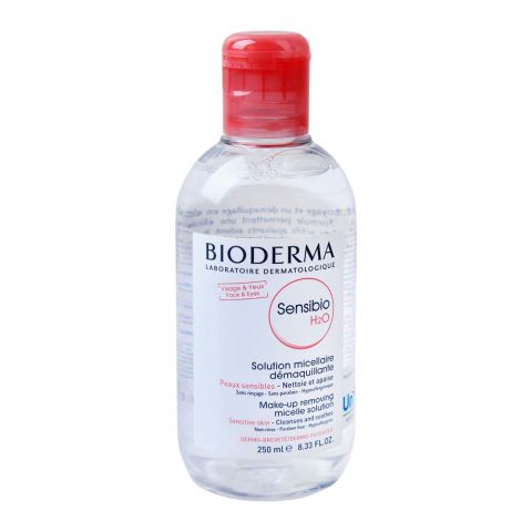 Bioderma Sensibio H2O Make-up Removing Micelle Solution, Sensitive Skin, Paraben Free, 250ml
