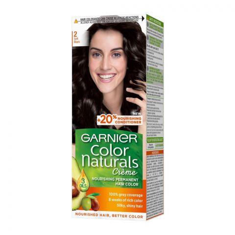 Garnier Color Naturals Creme Hair Colour, 2 Soft Black