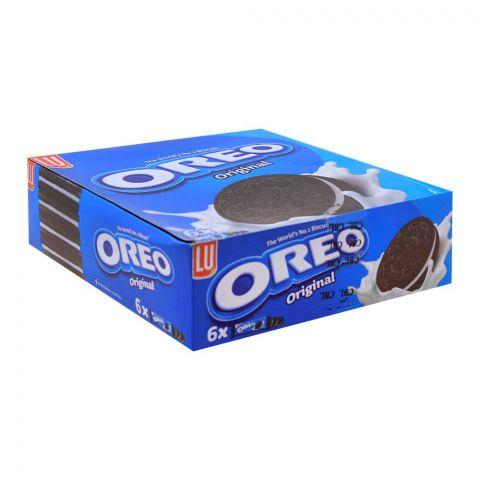 Oreo Original Biscuits, 58.8g, 6 Pack (6 Biscuits Per Pack)