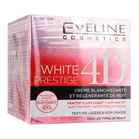 Eveline 48H White Prestige 4D Whitening & Regenerating Night Cream, 50ml