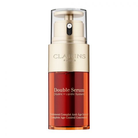 Clarins Paris Double Serum Complete Age Control Concentrate, Hydric + Lipdic System, 30ml