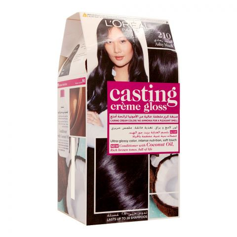 L'Oreal Paris Casting Creme Gloss Hair Colour, 210 Ashy Black