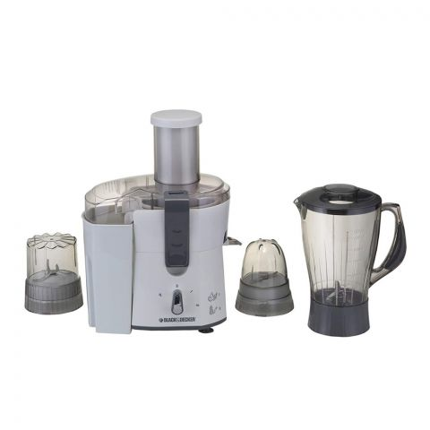 Black & Decker 4-In-1 Juicer, Blender, Grinder & Mincer, 500 Watts, JBGM600