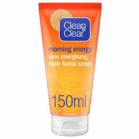 Clean & Clear Morning Energy Shine Control Daily Facial Scrub, Oil-Free, 150ml