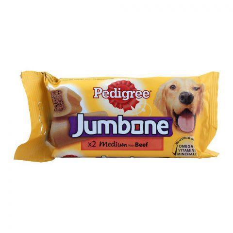 Pedigree Jumbone Medium Beef Dog Chews, 2-Pack, 200g