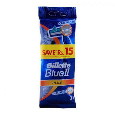 Gillette Blue II Plus Disposable Razors 3-Pack