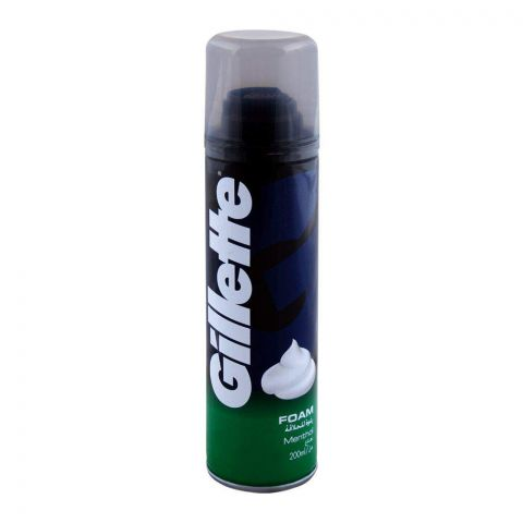 Gillette Menthol Shaving Foam 200ml