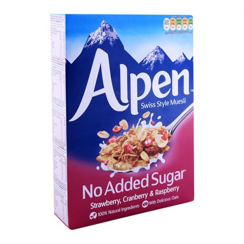 Alpen No Added Sugar Strawberry Raspberry & Cranberry Muesli 560g