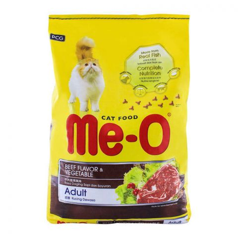 Me-O Adult Beef Flavor & Vegetable Cat Food 7 KG