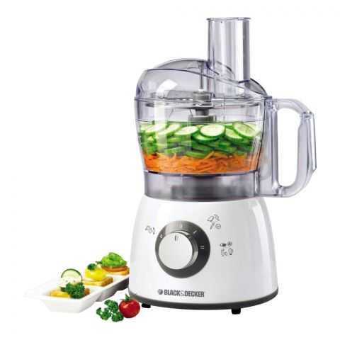 Black & Decker 2 Speed Food Processor, 18 Functions, 400 Watts, FX400