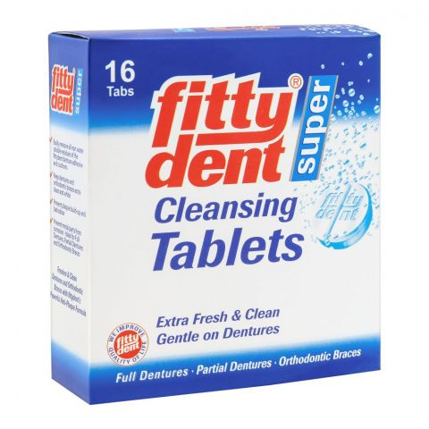 Fittydent Super Cleansing Tablets, 16-Pack