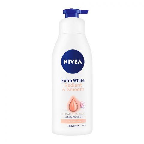 Nivea Extra White Radiant & Smooth Uv Whitening Body Lotion, Pump, 400ml