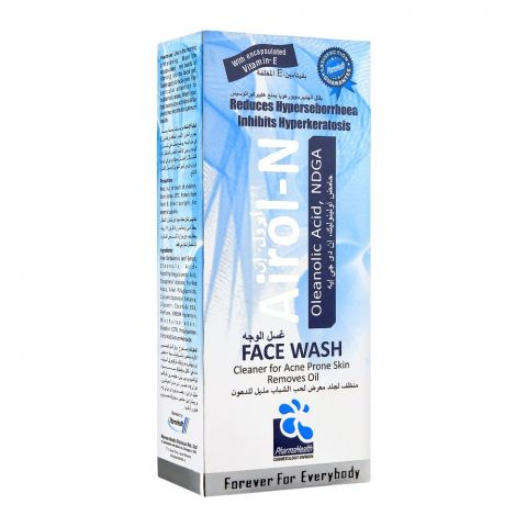 Airol-N Face Wash Clear For Acne Prone Skin, 60ml