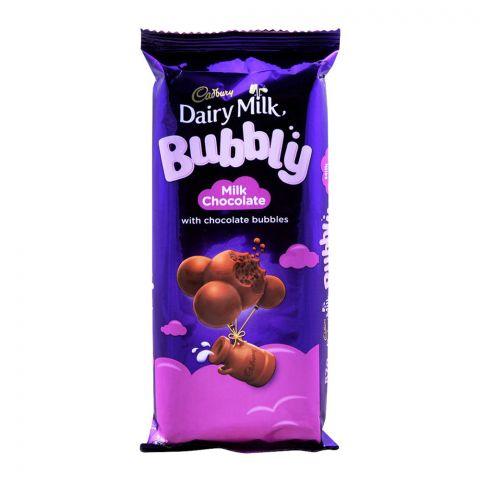 Cadbury Dairy Milk Bubbly Milk Chocolate, 87g, (Local)