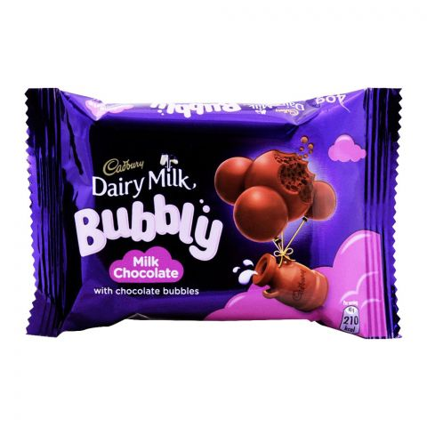 Cadbury Dairy Milk Bubbly Milk Chocolate, 40g, (Local)