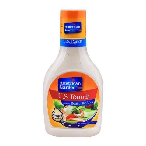American Garden U.S. Ranch Dressing, Creamy, 16oz/473ml