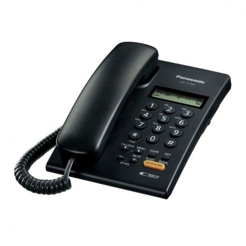 Panasonic Corded Landline Phone With Caller ID, Black, KX-T7705SX