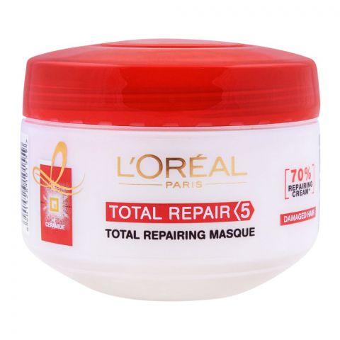 L'Oreal Paris Total Repair 5 Total Repairing Hair Masque, For Damaged Hair, 200ml