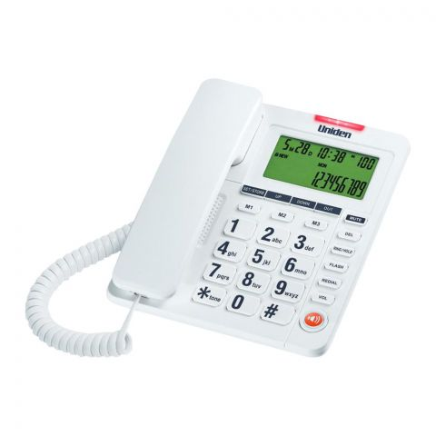 Uniden Big Display Caller ID Phone, Black, AS-7408