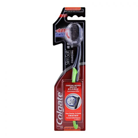 Colgate Slim Soft Charcoal Ultra Soft Toothbrush