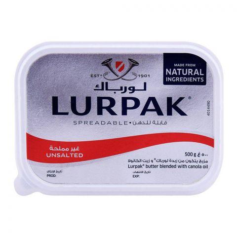 Lurpak Unsalted Spreadable Butter Tub 500g