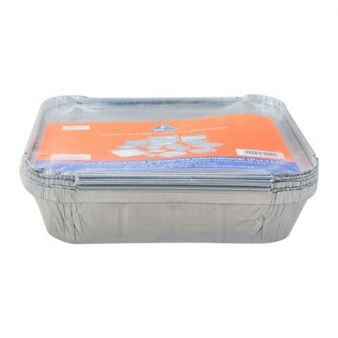 Apiil Aluminium Food Container, 245x245x56mm, 1700ml, F-4, 6-Pack