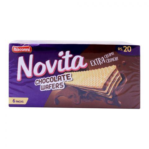 Bisconi Novita Chocolate Wafers, 6 Packs