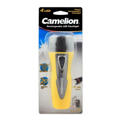 Camelion Cooled Plug-In Rechargeable Flash Light, RHP6041BP