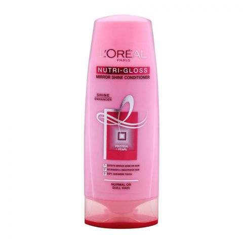 L'Oreal Paris Nutri-Gloss Mirror Shine Conditioner, For Normal or Dull Hair, 175ml