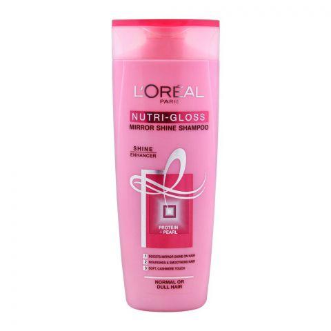 L'Oreal Paris Nutri-Gloss Mirror Shine Shampoo, For Normal or Dull Hair, 360ml