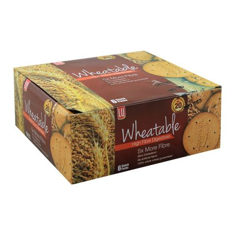 LU Wheatable High Fiber Digestives Biscuits, 6 Snack Packs