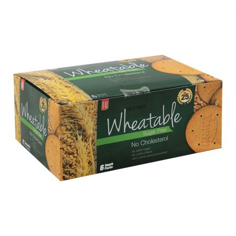 LU Wheatable Sugar Free Biscuits, 6 Snack Packs