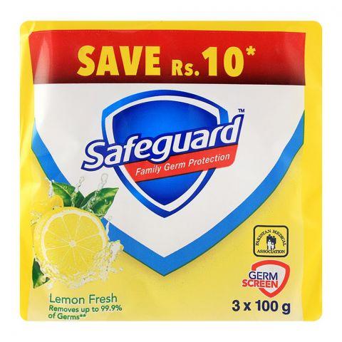 Safeguard Lemon Fresh Soap 3-Pack 100gm Value Pack