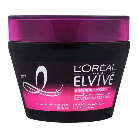 L'Oreal Paris Elvive Arginine Resist X3 Concentrated Mask, For Weak Hair, 300ml