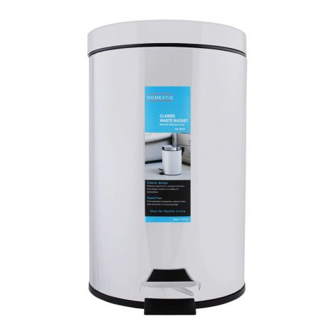 Homeatic Classic Steel Waste Bin, 12 Liters, EK-9625-12