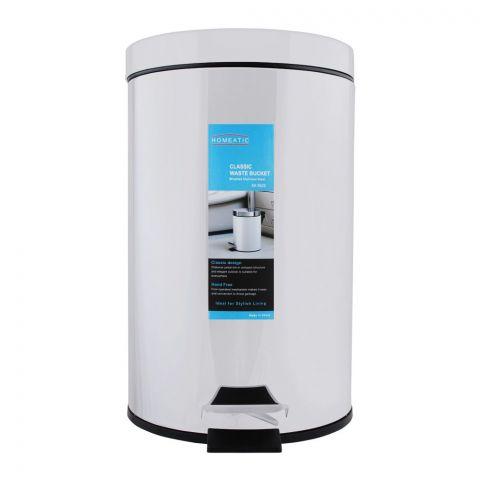 Homeatic Classic Steel Waste Bin, 20 Liters, EK-9625-20