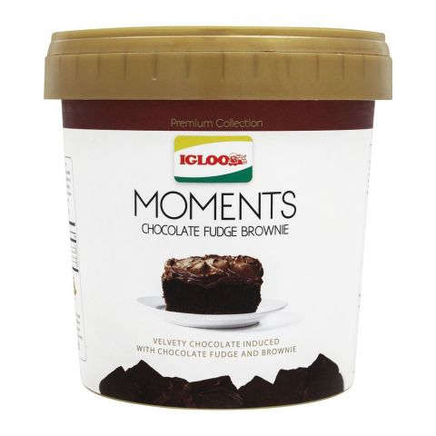 Igloo Moments Chocolate Fudge Brownie Frozen Dessert, 1000ml