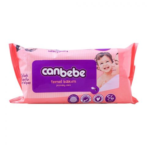 Canbebe Primary Care Wet Baby Wipes, 56-Pack