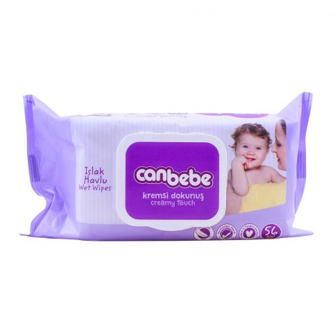 Canbebe Creamy Touch Extra Soft Baby Wipes, 56-Pack