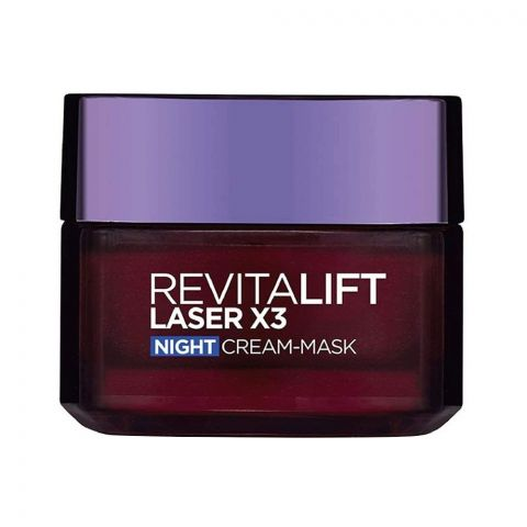 L'Oreal Paris Revitalift Laser X3 Anti-Aging Night Cream Mask 50ml