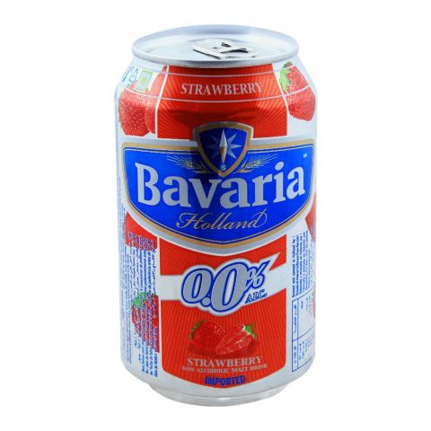 Bavaria Strawberry Non Alcoholic Malt Drink, Can, 330ml