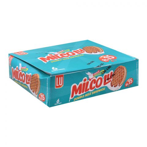 LU Milco LU Milk Sandwich Biscuits, 6 Snack Packs