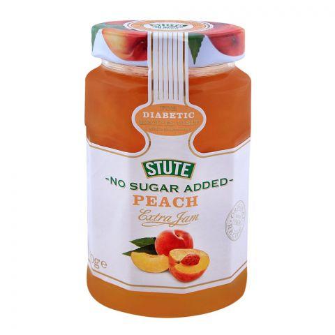 Stute No Sugar Added Peach Jam 430g