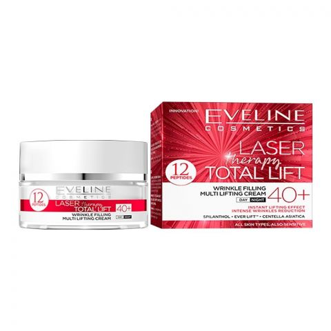 Eveline Laser Therapy Total Lift 40+ Wrinkle Filling Multi Lifting Day And Night Cream, All Skin Types, 50ml