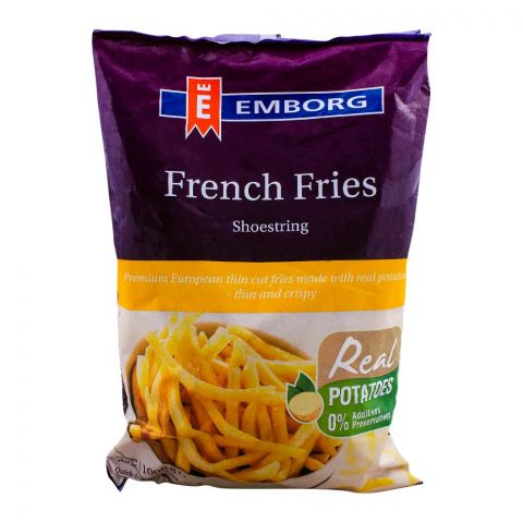 Emborg French Fries, Shoestring, 1000g