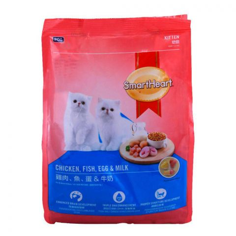 SmartHeart Kitten Chicken, Fish, Egg & Milk Cat Food 450g